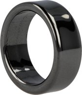 Hematiet ring 8 mm - Edelsteen - mt 20 plat