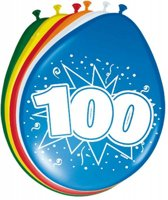 100 Jaar Ballonnen 30cm 8 stuks