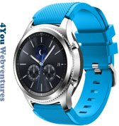 Blauw Siliconen Bandje voor 22mm Smartwatches van Samsung, LG, Seiko, Asus, Pebble, Huawei, Cookoo, Vostok en Vector – 22 mm rubber smartwatch strap - Gear S3 - LG Watch