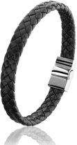 Montebello Armband Sambucus - Heren - Zwart - Leer - 20 cm