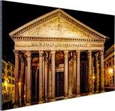 Pantheon Rome in de nacht Aluminium 120x80 cm - Foto print op Aluminium (metaal wanddecoratie)