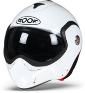 ROOF BoXXer Carbon Parel Wit Systeemhelm - Motorhelm - Maat M