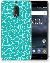 Nokia 6 TPU Hoesje Design Cracks Blue