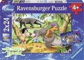 Ravensburger Disney Mowgli vrienden Twee puzzels van 24 stukjes