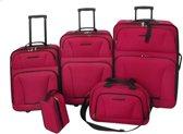 vidaXL Kofferset 5-delig - Rood