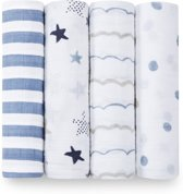 Aden + Anais Swaddle 4-pack Rock Star Classic