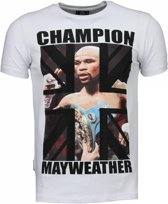 Local Fanatic Mayweather - Rhinestone T-shirt - Wit - Maten: XXL