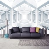 Fotobehang 3D, Design | Wit | 208x146cm