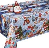 PVC Tafellaken - Tafelkleed - Tafelzeil - Kerstmis - Feestdagen - Opgerold op koker - Geen plooien - Duurzaam - 140 cm x 250 cm - Kerstcadeau