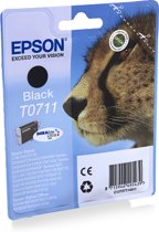 Epson T0711 Inktcartridge - Zwart
