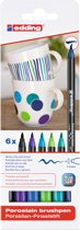 Edding brushpen Porcelein Cool assortiment set van 6