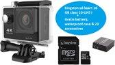 Lipa AT-4K action camera 4K en 12 MP - Wifi phone remote - Met SD 16 GB