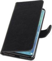 Zwart Pull-Up Booktype Hoesje voor Huawei Mate 20 Pro