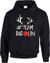 Hoodie sweater   Team Rudolph kersttrui   Maat Medium