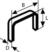 Bosch - Niet met platte draad type 54 12,9 x 1,25 x 6 mm