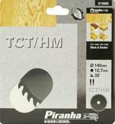 Piranha Cirkelzaagblad TCT/HM, 140x12,7mm 32 tanden X13005