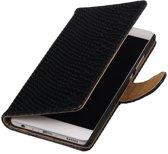 BestCases.nl Zwart Slang booktype wallet cover hoesje voor Samsung Galaxy A3 2017 A320F