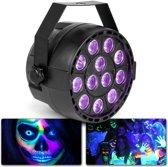 MAX Partypar Blacklight met 12 UV LED's van 1W per LED en DMX