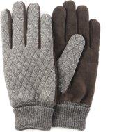 Leren handschoenen - Handschoenen heren - Grijze/Bruine handschoenen