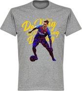 Frenkie de Jong Barcelona Script T-Shirt - Grijs - S