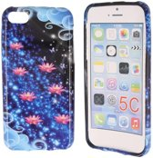 iPhone 5C Special Silicon Case Hoesje - Galaxy Flowers