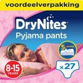 Huggies DryNites absorberende nachtbroekjes | GIRLS | 8 - 15 jaar | 3 x 9 stuks