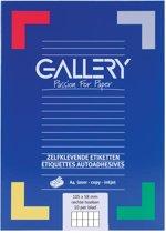 6x Gallery witte etiketten 105x58mm (bxh), rechte hoeken, doos a 1.000 etiketten