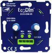 DUO led dimmer inbouw – fase afsnijding  - 2x 0-100W – Universeel - Druk- draai schakelaar, Draaidimmer voor LED Lampen, 100% Stil