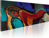 Handgeschilderd schilderij - Seduce  120x60cm