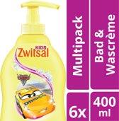 Zwitsal Cars Bad & Wascrème - 6 x 400 ml - Voordeelverpakking