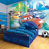 Fotobehang Disney, Cars   Blauw   208x146cm