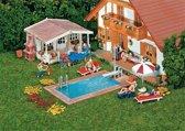 Faller - Zwembad en tuinhuisje