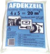 Afdekzeil / bouwfolie transparant 4 x 5 m - afdekfolie / stucloper