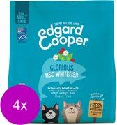 Edgard & Cooper Verse MSC-witvis Brok - Voor volwassen katten - Kattenvoer - 4 x 1.75kg