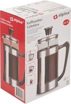 Alpina cafetière  - 1L - 8 koffie - RVS/ glas/ kunststof