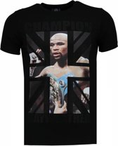 Local Fanatic Mayweather - Rhinestone T-shirt - Zwart - Maten: XXL