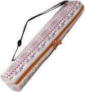 #DoYourYoga - yogatas - »Sunita« - yogabag van canvas - 63 x 13 cm. - roze Patroon