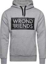 Wrong Friends AMSTERDAM HOODIE - GRAY/BLACK