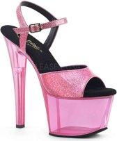SKY-308N (EU 38 = US 8) 7 Heel, 2 3/4 PF Ankle Strap Sandal