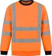 Yoworkwear Sweater RWS Fluor Oranje - Maat XL