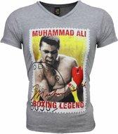 Mascherano T-shirt - Muhammad Ali Zegel Print - Grijs - Maten: M