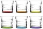 LAV gekleurde drinkglazen 320 ml (6 stuks)