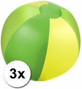 3 opblaasbare strandballen groen