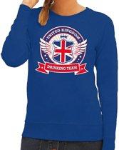 Blauw United Kingdom drinking team sweater dames L
