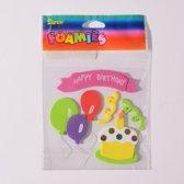 Sticker - Foamies stickers happy birthday - 1 stuk