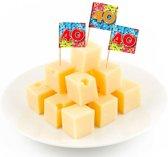 40 Jaar Cocktailprikkers Birthday Blocks - 24 stuks