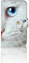 Uniek Hoesje Witte Kat voor de Samsung Galaxy Xcover 4