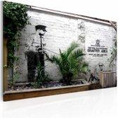 Schilderij - Banksy - Graffiti Area, 40x60cm