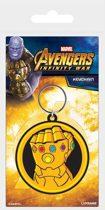 Avengers Infinity War Rubber  Keychain Infinity Gauntlet 6 cm