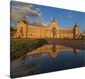 Het zonovergoten landbouwpaleis in Kazan Canvas 90x60 cm - Foto print op Canvas schilderij (Wanddecoratie woonkamer / slaapkamer)